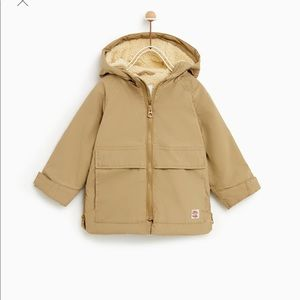 premium selection 28ccd cc47c Zara Jackets   Coats - Zara Unisex Hooded Fleece Parka  Jacket